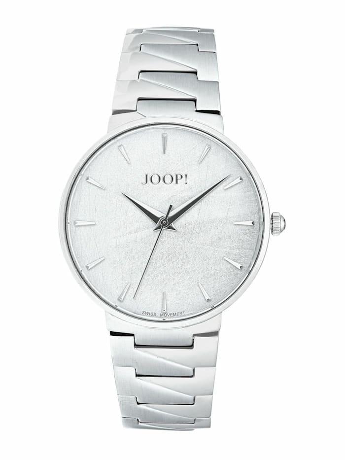 JOOP! Quarzuhr für Damen, Edelstahl, Silber