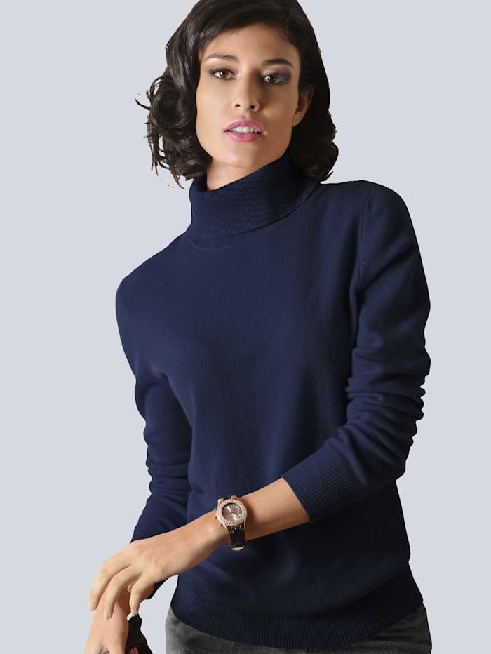 Alba Moda Pullover aus hochwertigem Kaschmir, Marineblau