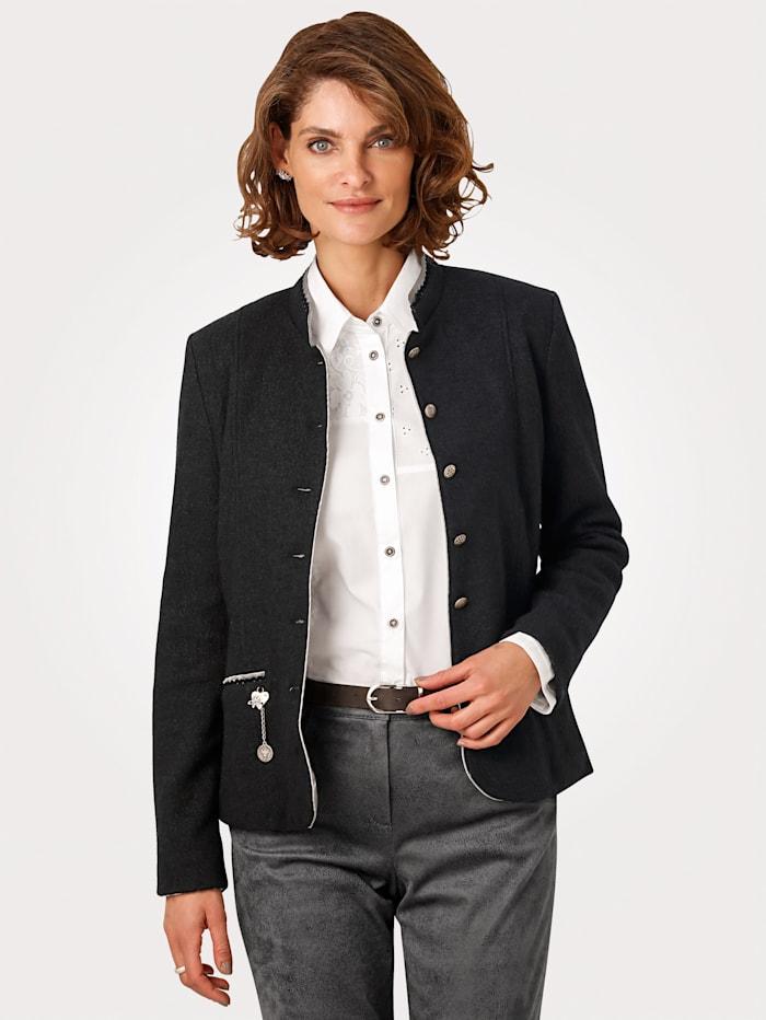 MONA Blazer made from a soft wool blend, Black
