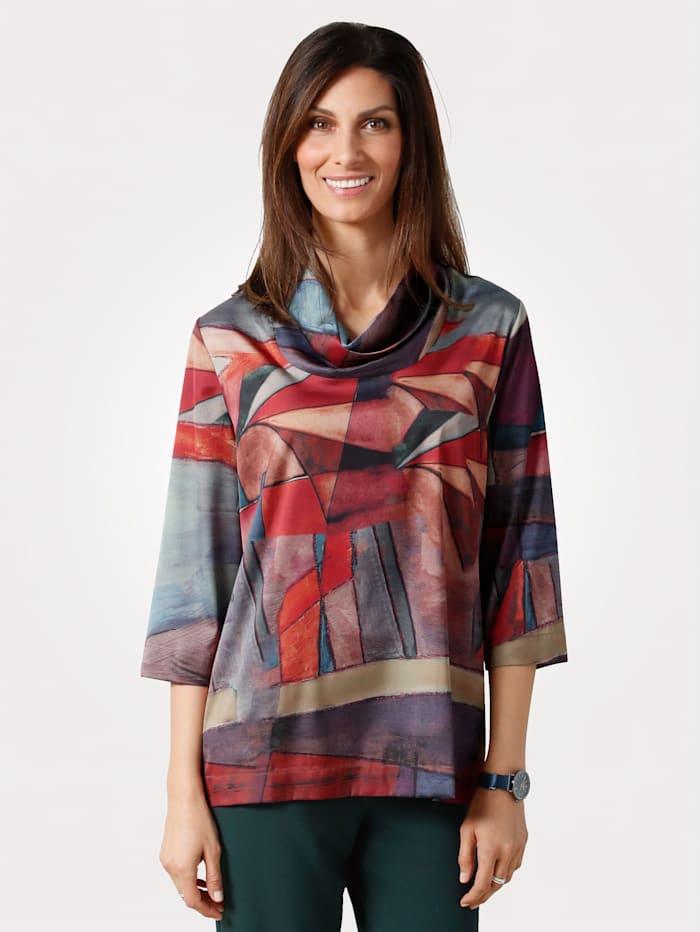 MONA Bluse mit grafischem Druck, Multicolor