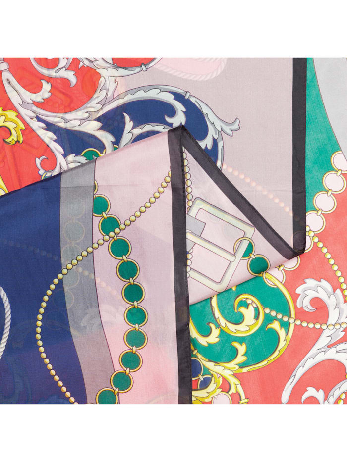 Seiden-Schal mit elegantem Foulard-Muster