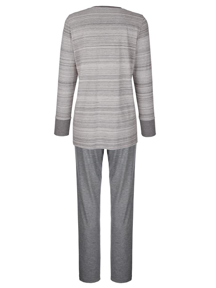 Pyjama met fonkelend steentjesmotief