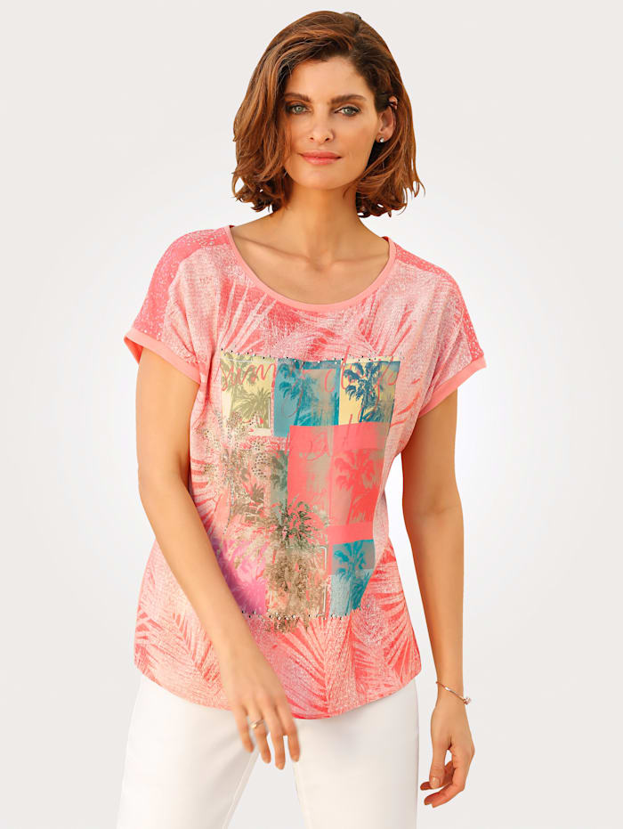T-shirt à motif 'palmiers'