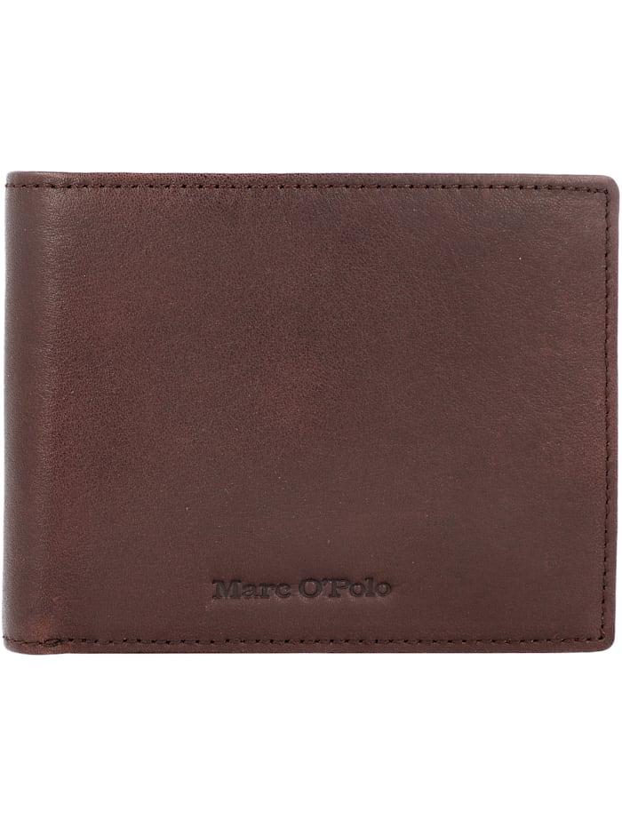 Marc O'Polo Pete Geldbörse Leder 12 cm, brown