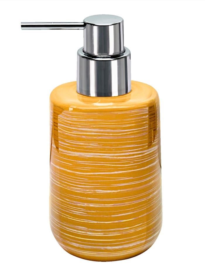 """Kleine Wolke Täytettävä käsinmaalattu pumppupullo """"Argentic"""", kullankeltainen"""