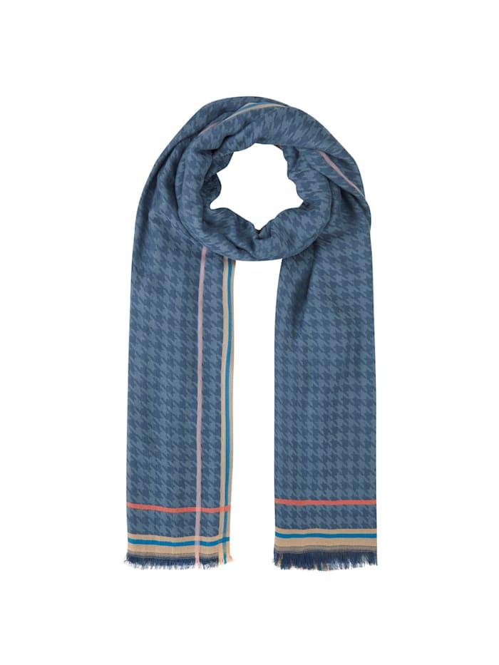 Codello Ultrasofter Jacquard-Schal aus Viskose, jeans blue