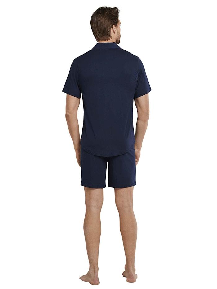 Kurz-Pyjama, durchgeknöpft