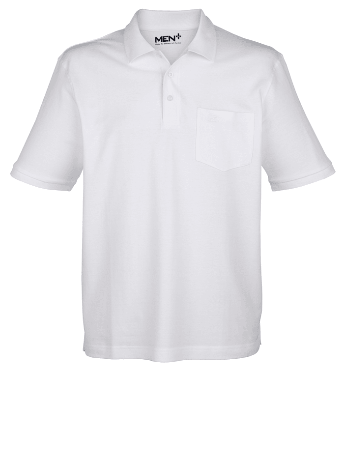 Men Plus Poloshirt, Weiß