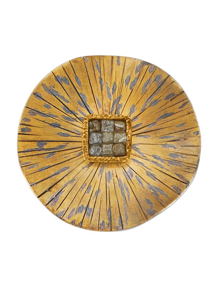 Diemer Atelier Hanger met 9 ruwe diamanten, Multicolor