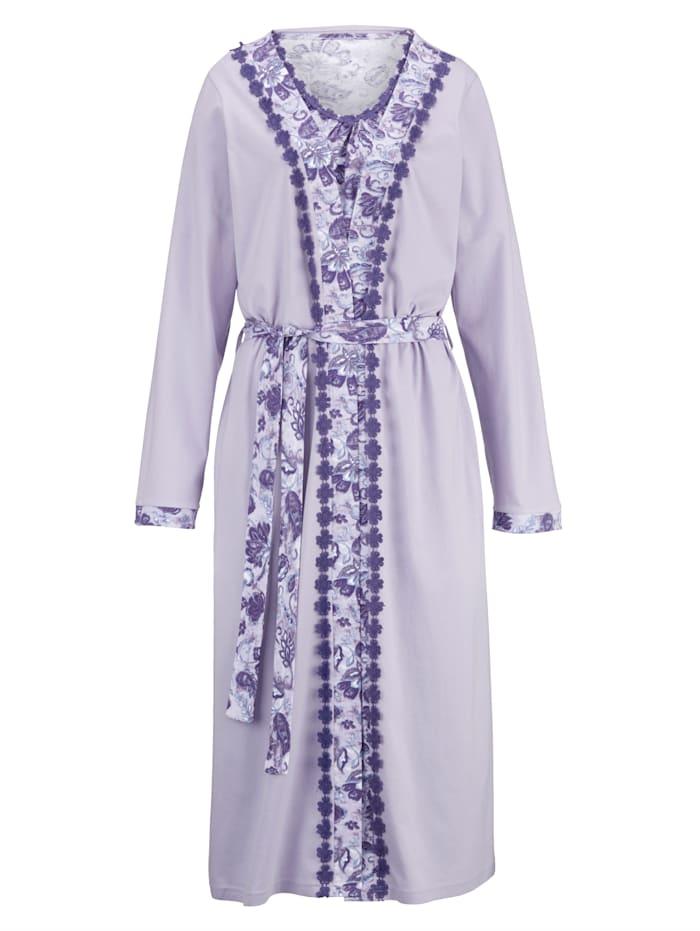 Dressing Gown Set with floral lace details Set