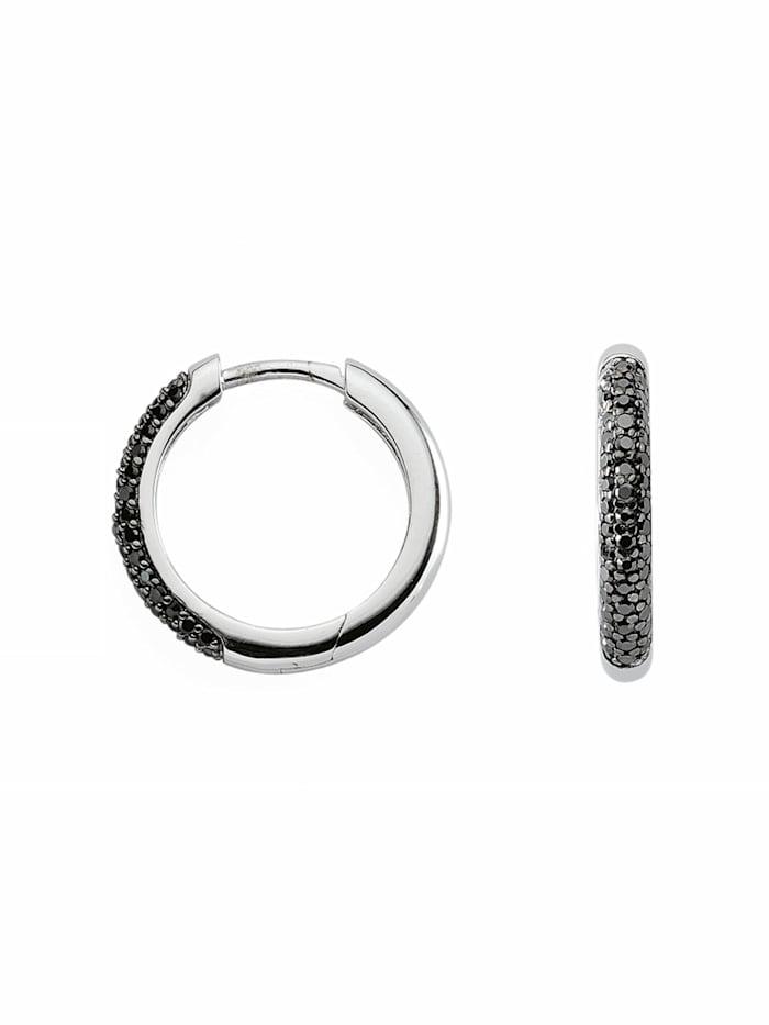 1001 Diamonds 1001 Diamonds Damen Silberschmuck 925 Silber Ohrringe / Creolen mit Zirkonia Ø 18,4 mm, bunt