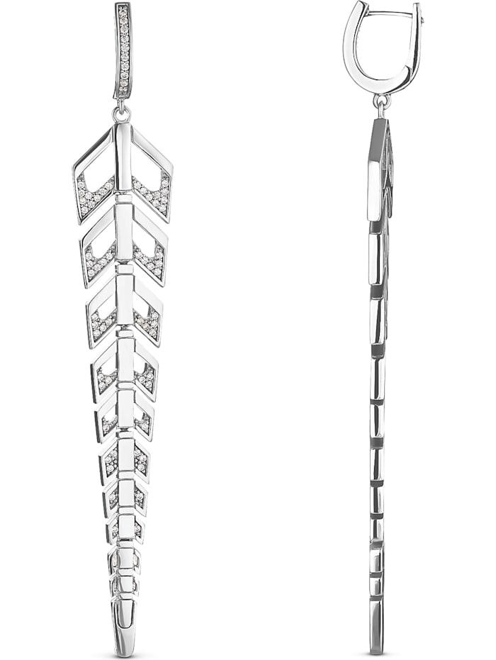 JETTE Silver Damen-Creolen 925er Silber 136 Zirkonia