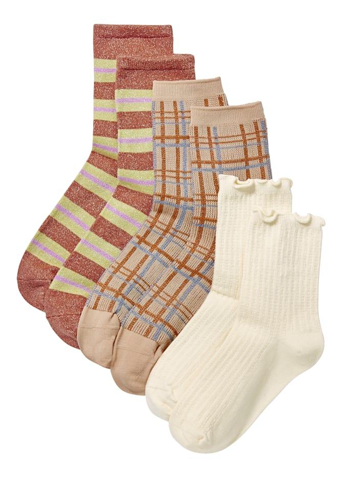 Becksöndergaard Socken-Set, 3-tlg., Beige/Rost