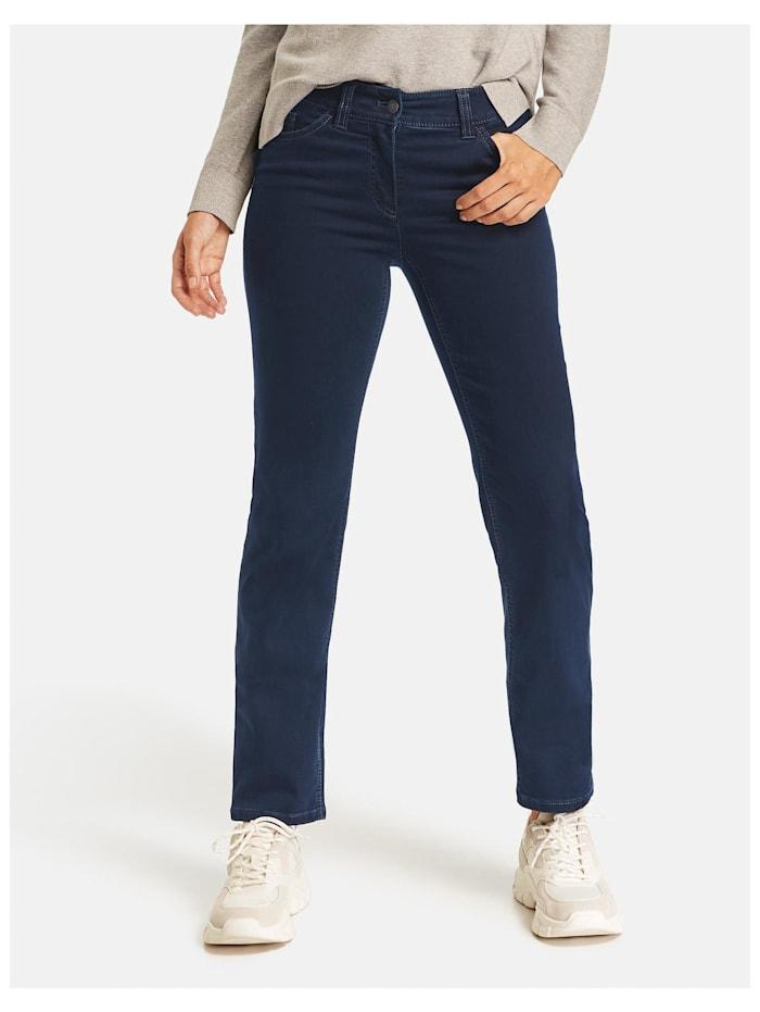 Gerry Weber 5-Pocket Jeans Best4me Langgröße, Dark Blue Denim