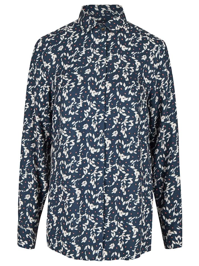 Daniel Hechter Modische Bluse mit All-over-Print, midnight blue