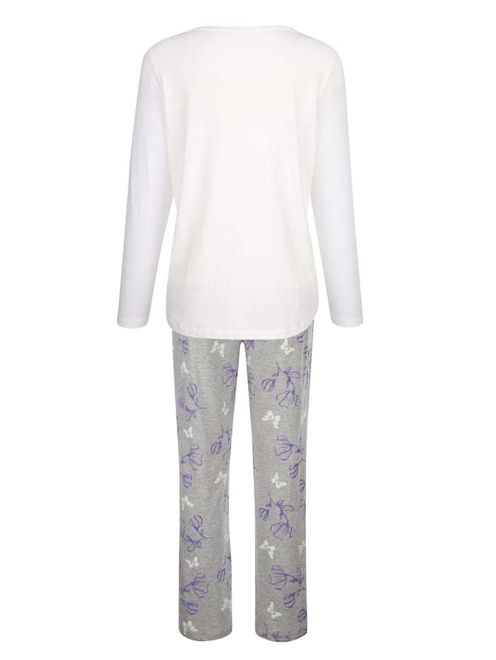 Pyjamas med blommigt tryck