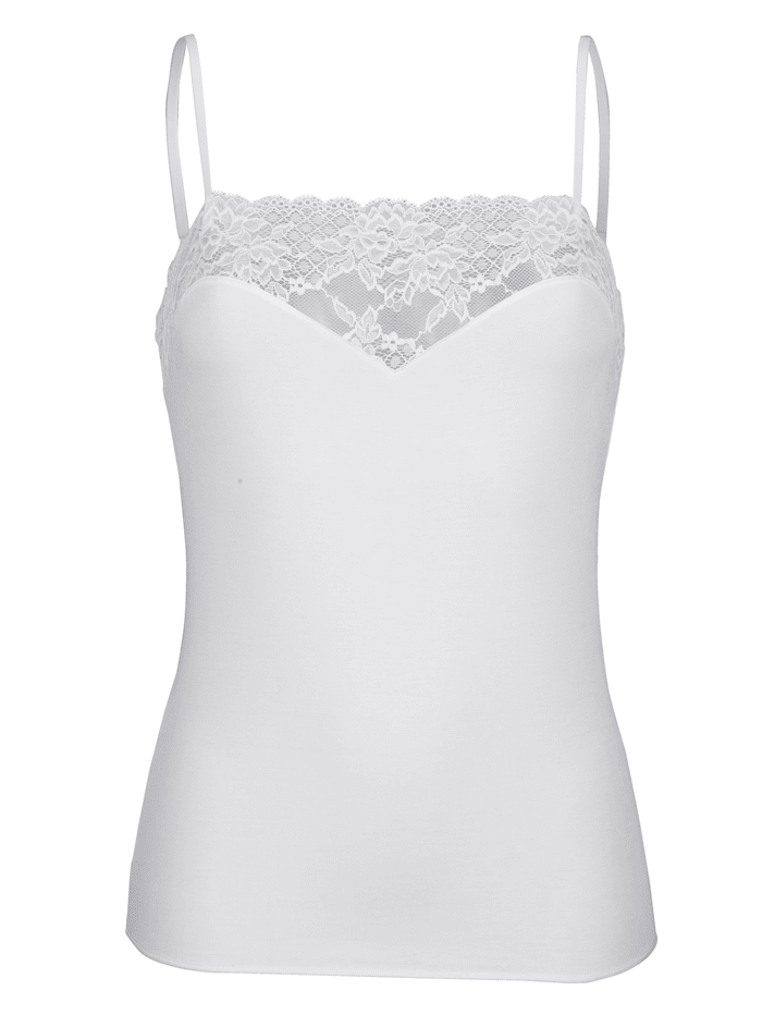 MONA Camisole with adjustable straps, White