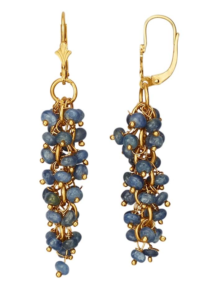 Ohrringe mit Saphiren, Blau