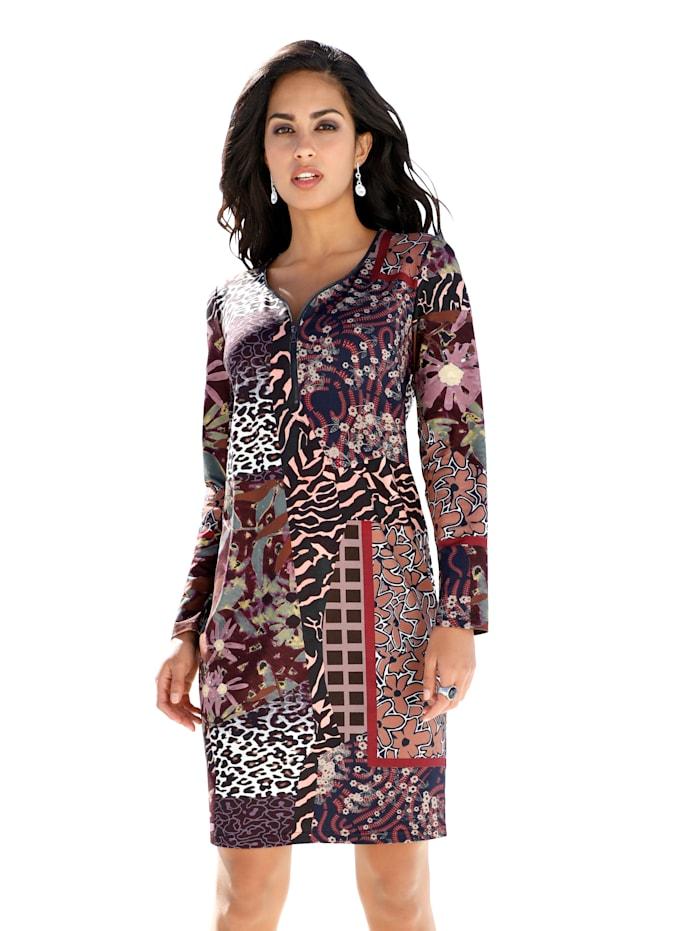 AMY VERMONT Jerseykleid mit Allover-Druck, Multicolor