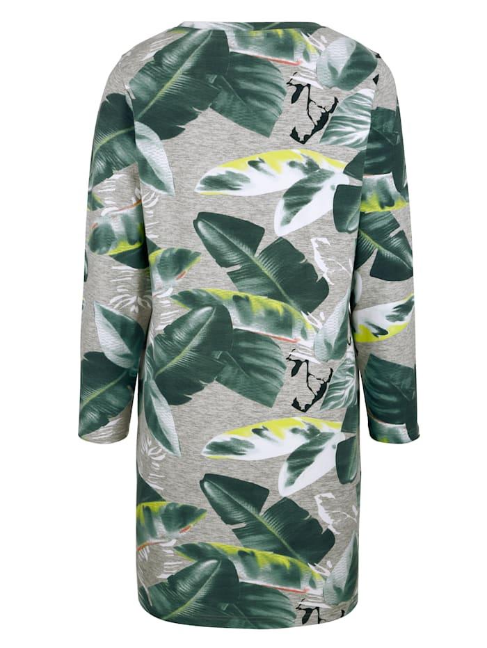 Sweat-shirt long à imprimé floral