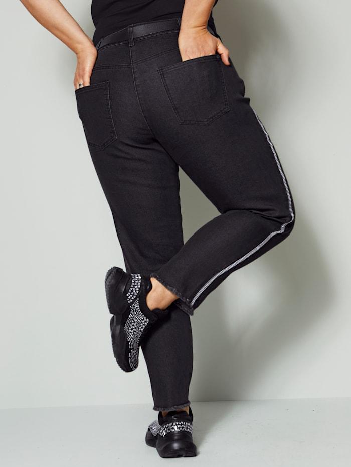 Jeans mit Strassband