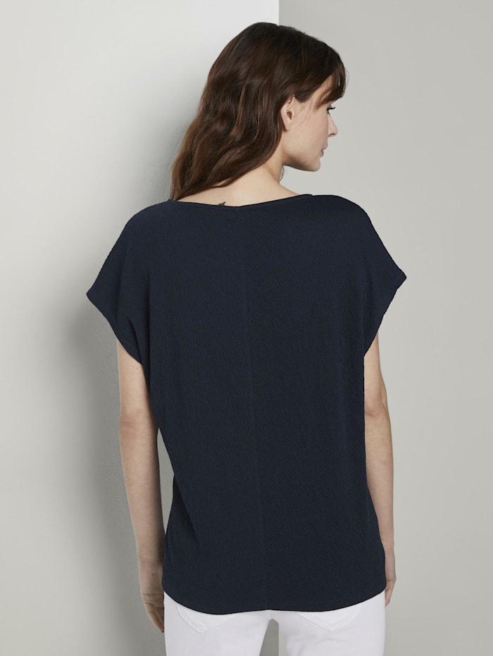 T-Shirt in Crincle-Optik