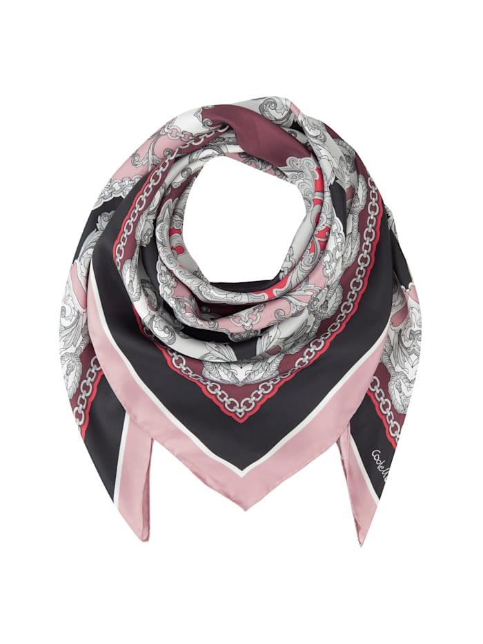 Codello Großes Seidentuch mit elegantem Foulard-Dessin, dark rose