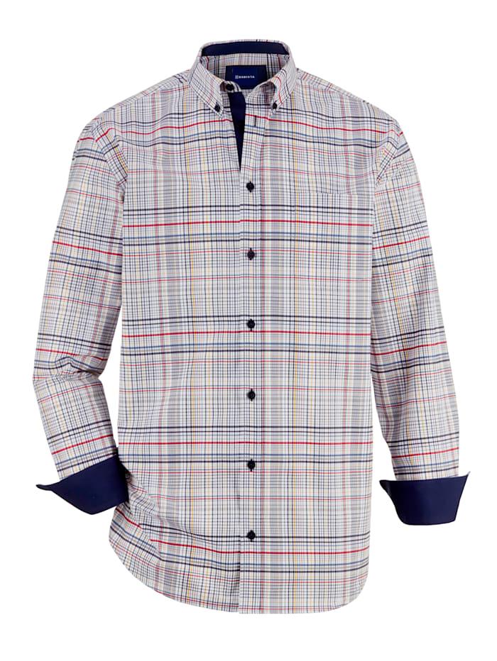 BABISTA Chemise avec col à pointes libres boutonnées, Blanc/Marine