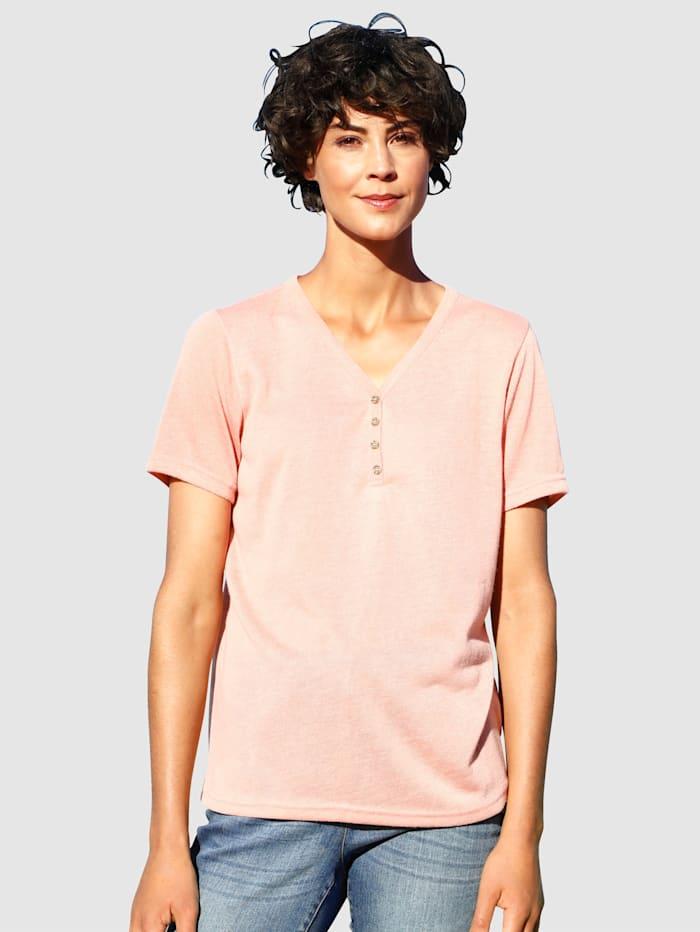 Dress In Shirt mit Knöpfen, Apricot