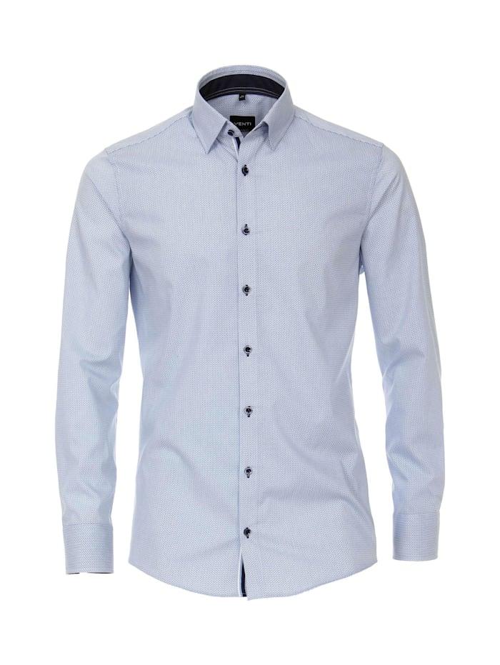Venti Hemd uni Modern Fit, Weißblau