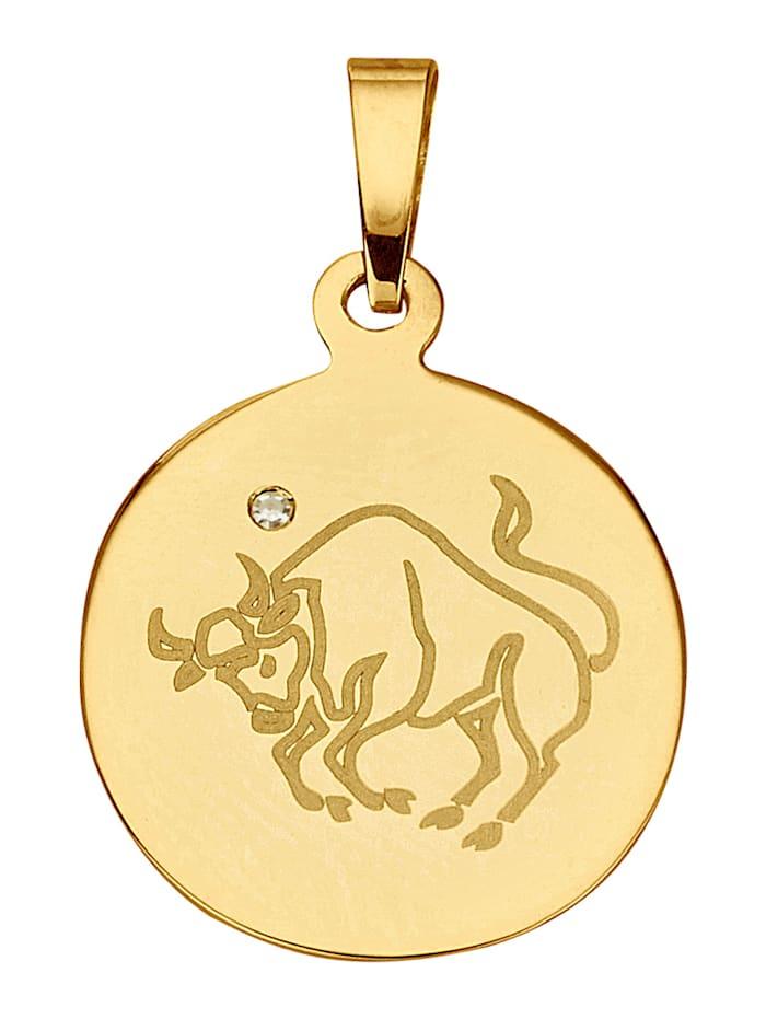 Pendentif avec signe du zodiaque Taureau