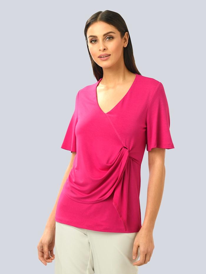 Alba Moda Shirt mit Knotendetail, Pink