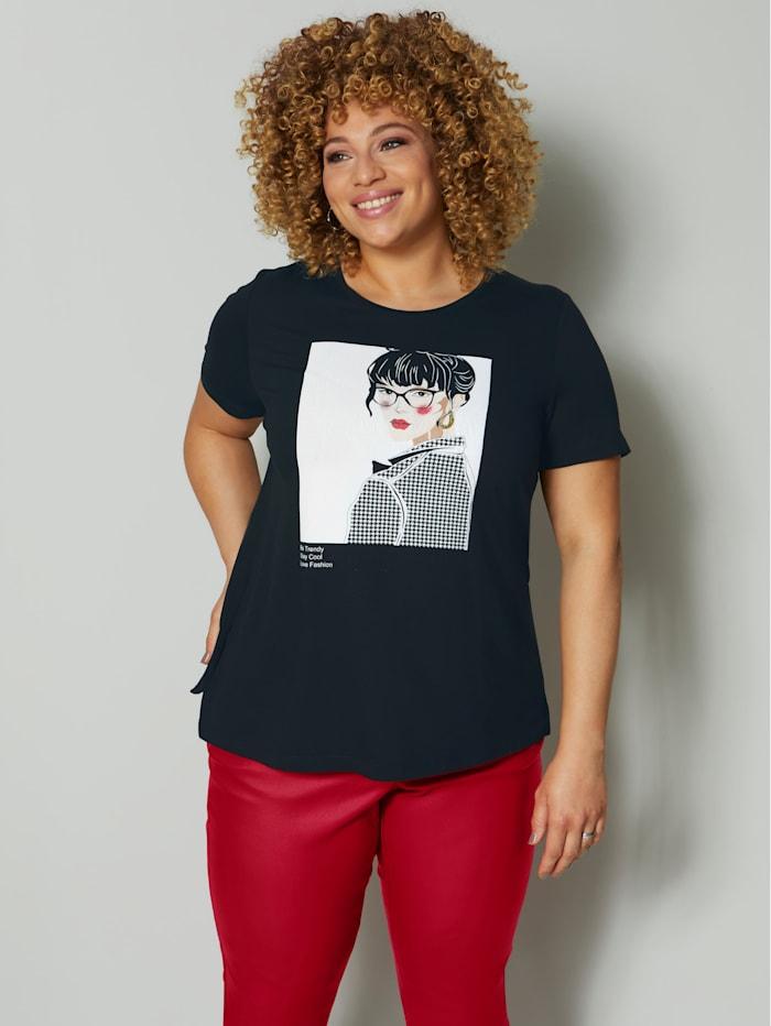Angel of Style Shirt, Schwarz/Weiß
