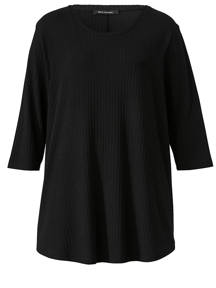 Shirt met afgeronde zoom