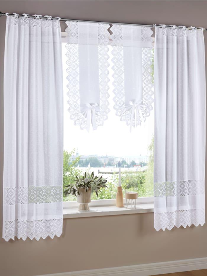 Set van 2 raam- en deurvitrages Maren
