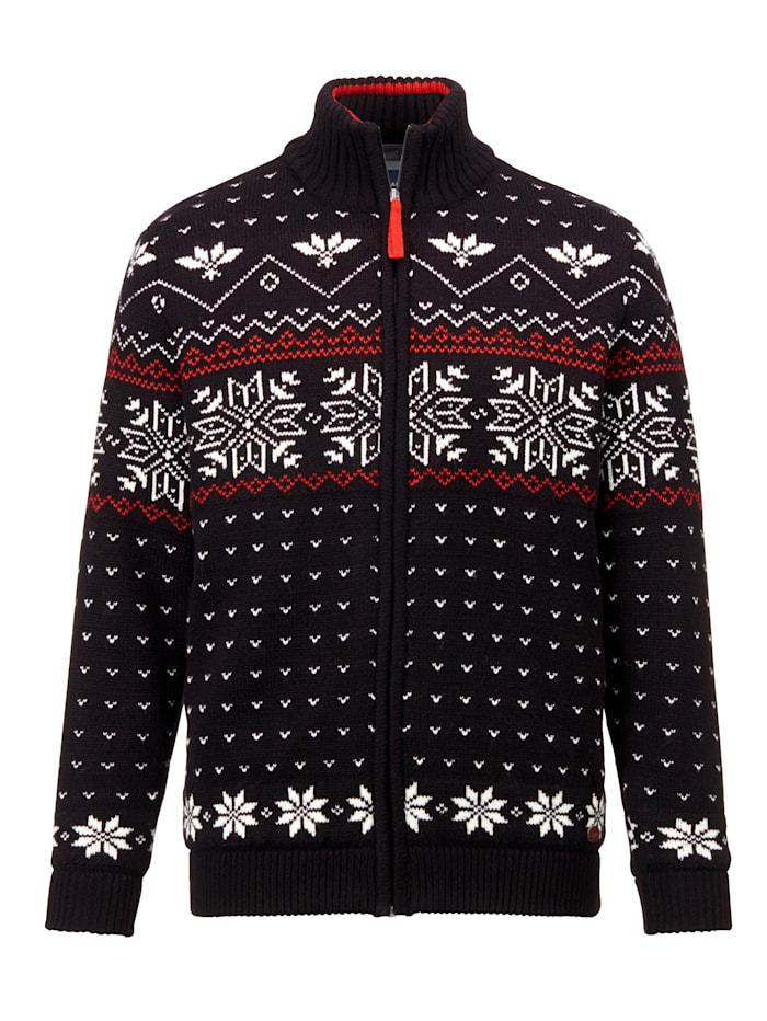 BABISTA Funkčný sveter odolný proti vetru, Čierna