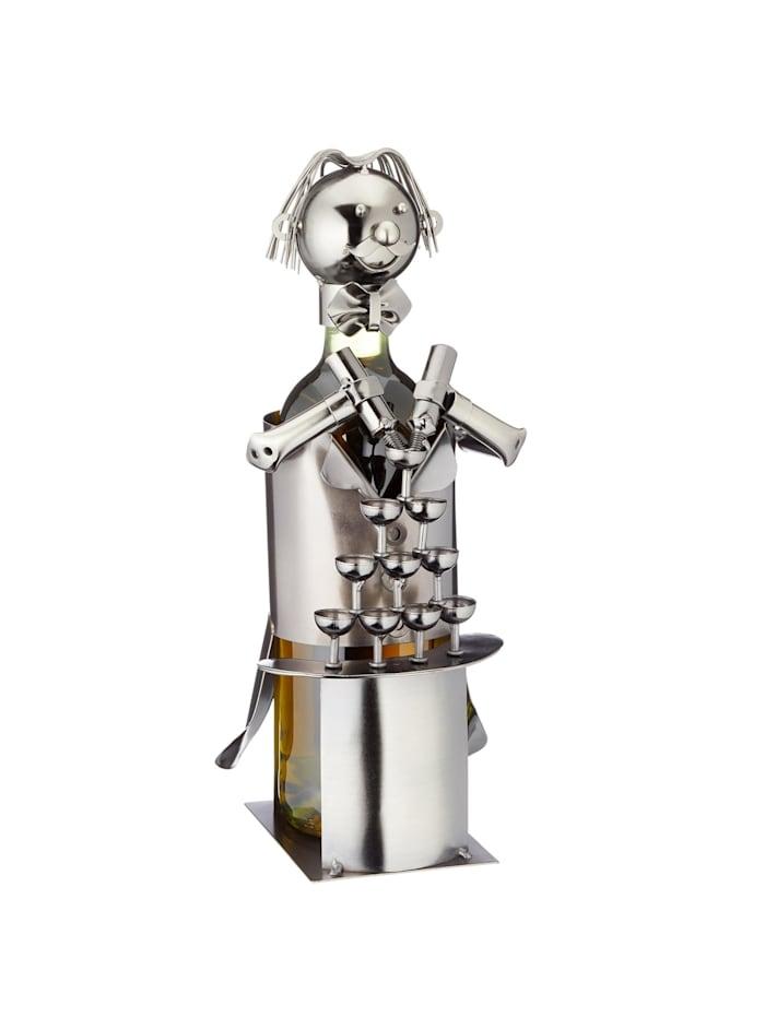 HTI-Living Weinflaschenhalter Barkeeper, Silber
