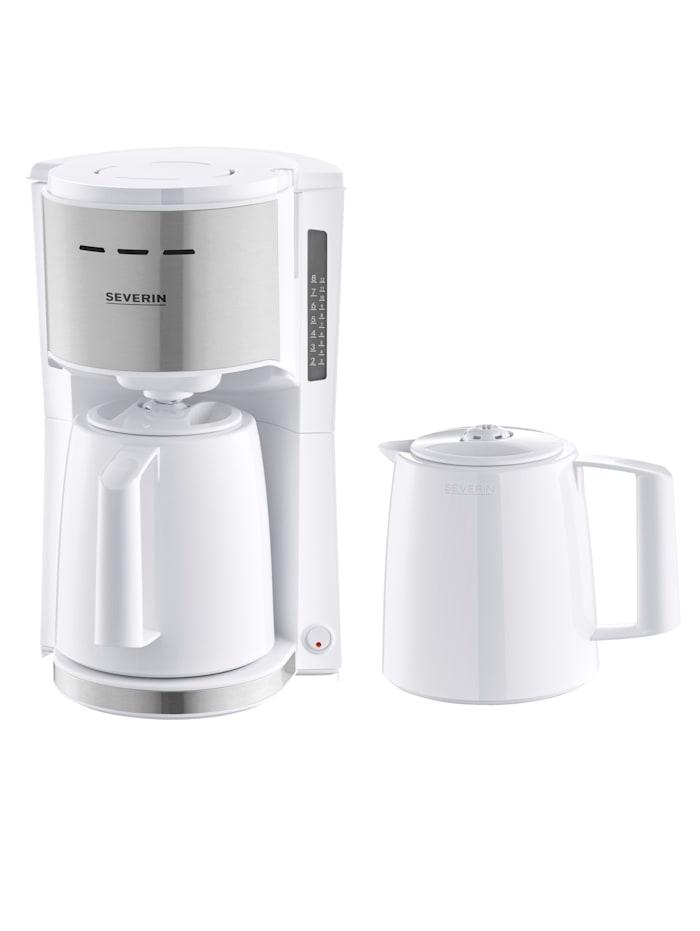 Severin Machine à café filtre KA9257 à 2 verseuses isothermes, Blanc
