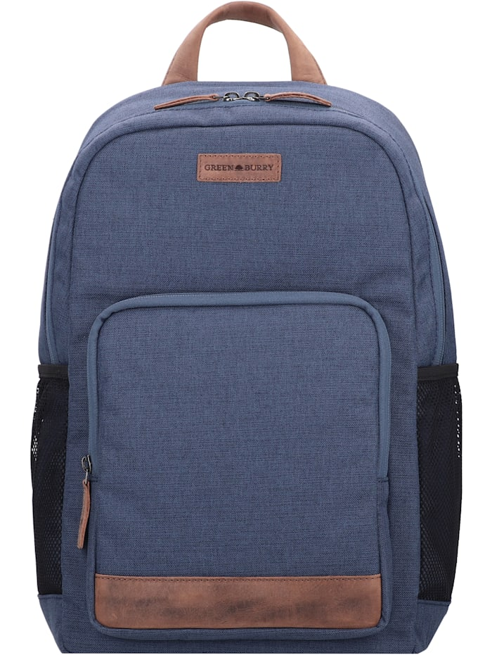 Greenburry Recycled PET Coral Rucksack 41 cm Laptopfach, coral blue