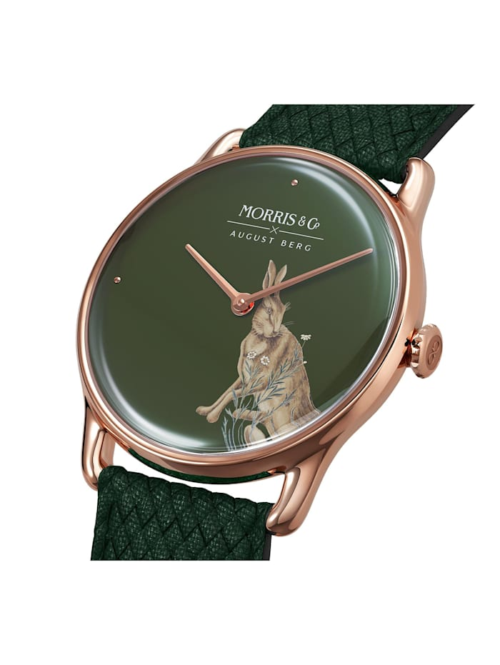 Uhr MORRIS & CO Rose Gold Green Perlon 38mm