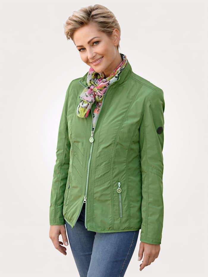 Barbara Lebek Sakový kabátik perfektný na prechodné obdobie, Zelená