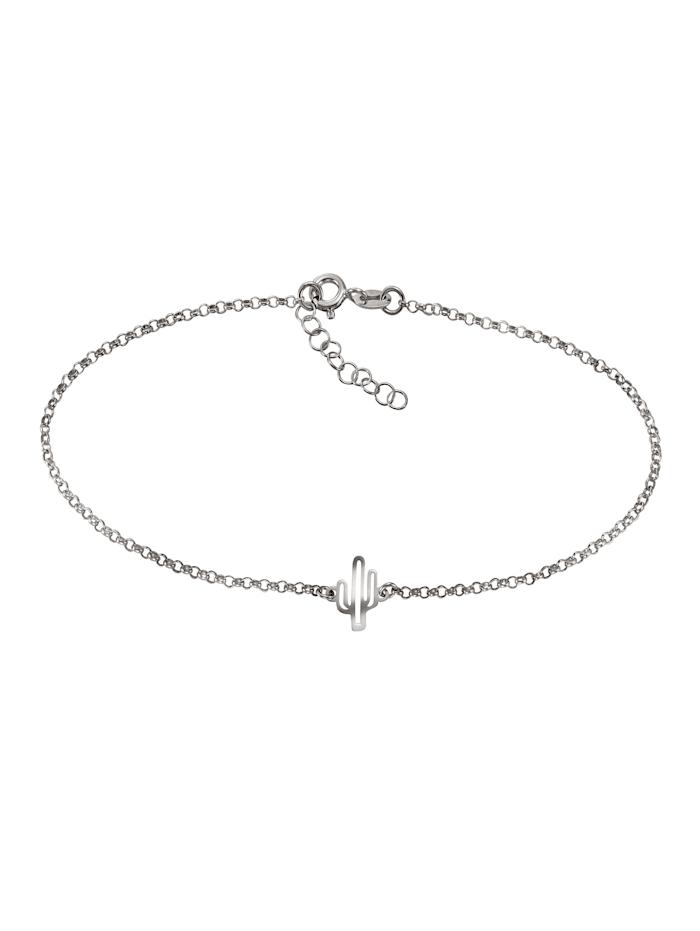 ZEEme Fußkette 925/- Sterling Silber 23+2,5cm Glänzend, weiß
