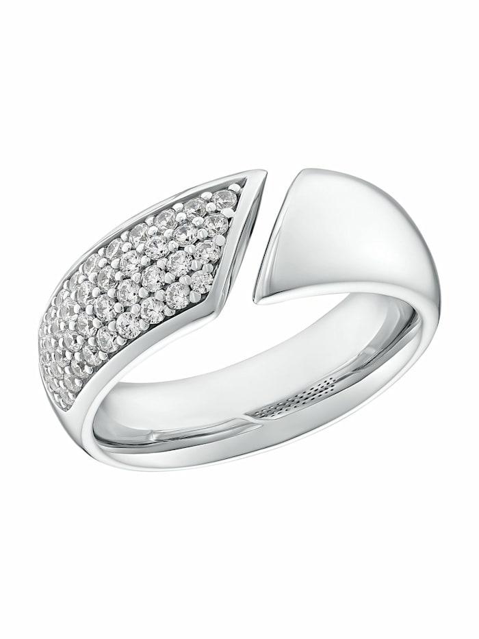 JOOP! Ring für Damen, Sterling Silber 925, Zirkonia, Silber