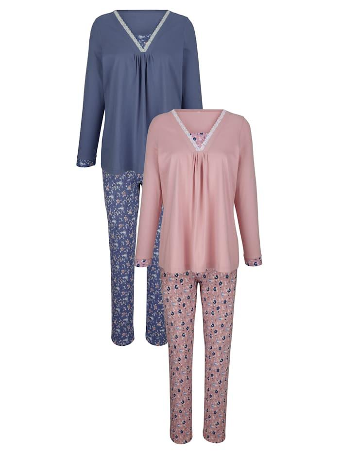 Pyjama met moderne hals
