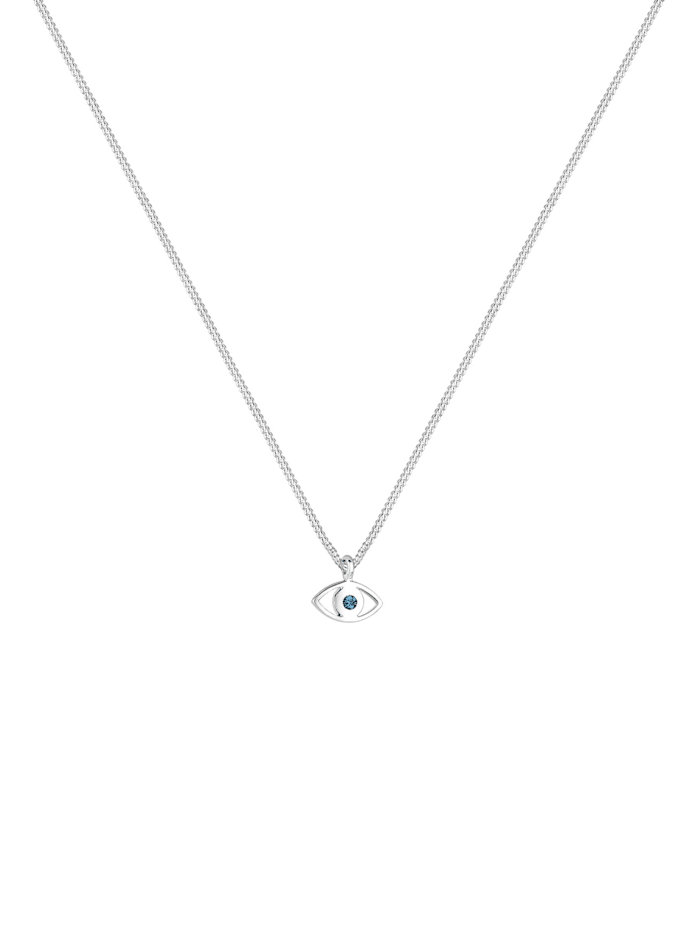Halskette Evil Eye Kristalle 925 Sterling Silber