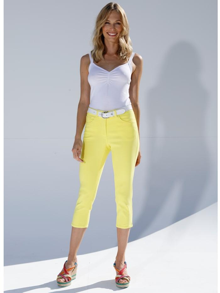 AMY VERMONT Capri-jeans van elastisch materiaal, Geel