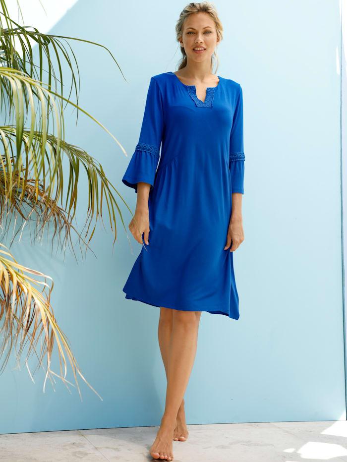 Comodo Robe de plage à biais en dentelle, Bleu roi