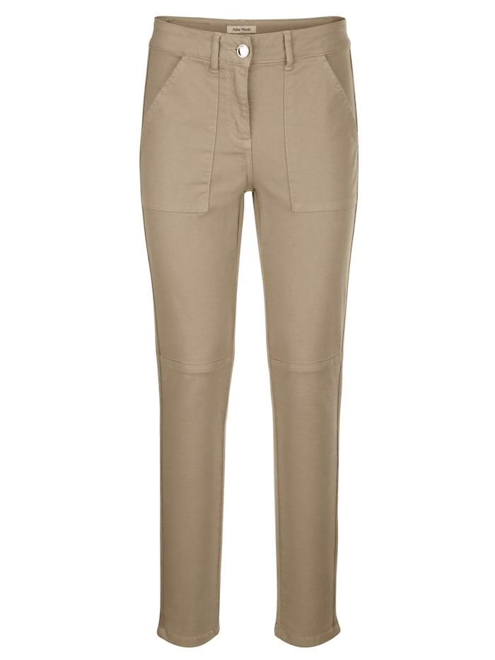 Nohavice s rypsovým pásom v bočnom šití