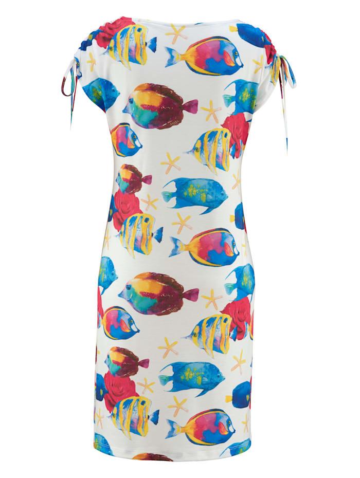 Jerseykleid mit Fischedruck