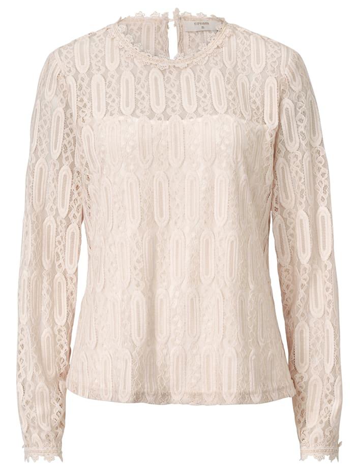 Cream Spitzenbluse, Weiß